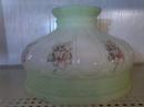 Davis-Lynch Glass Green Top Tint / Peach Flowered Design Shade 10