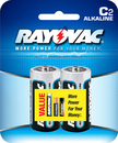 Ray O Vac Alkaline C Size - 2 Pk Carded, 814-2