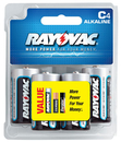 Ray O Vac Alkaline C Size - 4 Pk Carded, 814-4