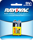 Ray O Vac Alkaline 9 Volt - Carded, A1604-1