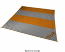 Eno Islander Blanket Print / Orange/Grey, A600-006