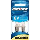 Ray O Vac 6V Krypton Bulb - 2 Pk