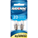 Ray O Vac 2D Krypton Bulb - 2 Pk