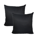 Aspire Set of 4 Black Pillow Covers Cotton Square Throw Pillow Case 18x18 Inch for Couch Decoration