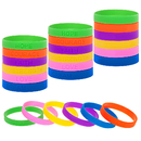 Muka 24 PCS Silicone Bracelets Debossed Inspirational Sayings Rubber Wristbands for Sport Competing
