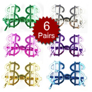 Dollars Gold Money Glasses - Assorted Random Colors, Party Glasses