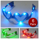 Assorted Colors Hearts Light UP LED Glasses, Party Glasses, Christmas Gift 2012