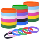 Muka 24 PCS Blank Silicone Wristbands for Adults, Party Colored Rubber Bracelets