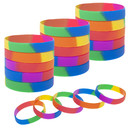 Muka 20 PCS Rainbow Gay Pride Wristbands Silicone Bracelets Support LGBTQ Cause