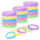 Muka 20 PCS Glow in the Dark Silicone Bands, Wristbands for Night Jogging, Halloween Decorations