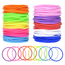 Muka 100 PCS Silicone Jelly Bracelets for Youth, Hair Ties Party Favors Prizes