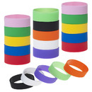 Muka 20 PCS Wide Silicone Bands for Adults, Retro Bangle Wristbands, Party Favor