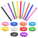 Muka 20 PCS Adult Rubber Charm Wristbands, Silicone Adjustable Bracelets
