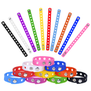 Muka 20 PCS Adjustable Kids Bracelets, Silicone Charm Bracelets, Party Gift