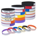 Muka 24 PCS Writable Silicone Bracelets, Waterproof Personalized ID Wristbands