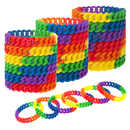 Muka 12 PCS Chain Link Silicone Rainbow Pride Bracelets, Party Adult Wristbands, Halloween Decorations