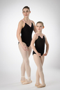 Prima Soft Adult Leotards 904 Camisole With Pink Accent - Black