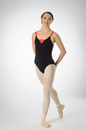 Prima Soft Adult Leotards 904R Camisole With Red Accent - Black