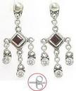Painful Pleasures BAER023-pair Seductive Bali Dangle Sterling Silver Fashion Earrings