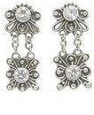 Painful Pleasures BAER033-pair Bali Star Burst Dangle Sterling Silver Fashion Earrings