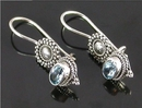 Painful Pleasures BAER053-pair Bali Silver Sun - Indonesian Style Sterling Silver Earrings