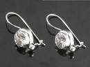 Painful Pleasures BAER054-pair Indonesian Bling Style Sterling Silver Earrings