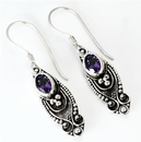 Painful Pleasures BAER063-pair Bali Droopi - Indonesian Style Sterling Silver Earrings