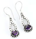 Painful Pleasures BAER065-pair Bali TEARY - Indonesian Style Sterling Silver Earrings French Hook