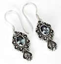 Painful Pleasures BAER068-pair Bali Spade Indonesian Style Sterling Silver French Hook Earrings - Price Per 2