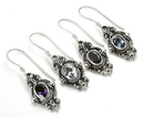 Painful Pleasures BAER073-pair The Flower Bali Sterling Silver French Hook Wholesale Earrings