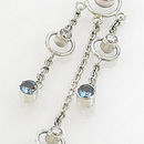 """Painful Pleasures BAN001 14g 7/16"""" Triple Orbital Dangle Sterling Silver Bali Belly Button Ring"""