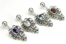 """Painful Pleasures BAN071 14g 7/16"""" 5 Hearts Indonesian Wholesale Navel Ring"""