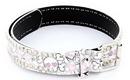 Painful Pleasures belt004-pinkskull Pink and White Skull Genuine Leather Belt