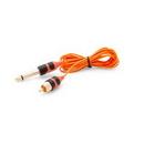 Peak BLOOD-083 Peak Ultra RCA Cord - 6.5' Straight Orange/Black - Price Per 1