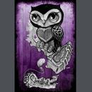 Painful Pleasures book_145 Purple Owl By Gunnar 12x18 Print