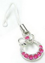 Painful Pleasures CEL006 Bow Tie Pink Gem Purse Wholesale Cell Phone Charm