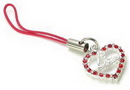 Painful Pleasures CEL025 RED LOVE HEART Wholesale Cell Phone Charms