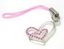 Painful Pleasures CEL038 Double LOVE Wholesale Jewelry for Cell Phone Charms