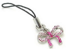 Painful Pleasures CEL072 Pink Bow Wholesale Cell Phone Charm
