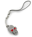 Painful Pleasures CEL101 BLACK SKULL with RED EYES Cell Charm Phone Cool New Phone Accessories
