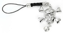 Painful Pleasures CEL102 SKULL N BONES with CZ DANGLE Cell Charm Phone Cool New Phone Accessories