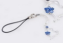 Painful Pleasures CEL104 BLUE HEART Cell Charm Phone Cool New Phone Accessories