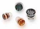 Gorilla Glass Custom-076-TGP-S-GG Tiger Stripe Single Flare Borosilicate Glass Plug - Custom Made - Price Per 1