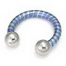 Painful Pleasures Custom-337-TC015-le 8g Titanium Internally Threaded Circular Barbell (CUSTOM MADE)