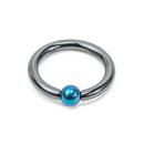 Unbreakable Custom-369-UB 6g Titanium or Niobium Socket Captive Bead Ring - Custom Made - Price Per 1