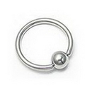 "Unbreakable Custom-621-UB 14g CUSTOM Stainless Steel Captive Bead Ring - Handmade - 1/4"" - 2"""