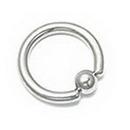 "Unbreakable Custom-623-UB 10g CUSTOM Stainless Steel Captive Bead Ring - Handmade - 5/16"" - 2"""