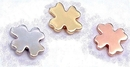 Painful Pleasures Custom-762-DT096-BG 14kt Yellow, White or Rose Gold Internally Threaded Clover - Custom Made - Price Per 1