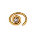 Unbreakable Custom-837-UB 18g Niobium Cartilage Halo with Jewel - Custom Made - Price Per 1
