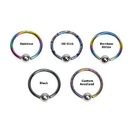 Unbreakable Custom-859-UB 18g or 16g Niobium Droplet Captive Bead Ring - Custom Made - Price Per 1